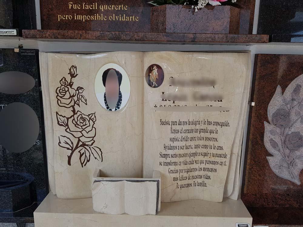 Tipos de lápidas según el acabado