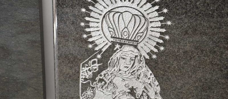 Chorro de arena en arte funerario | Manolo Simón Albacete